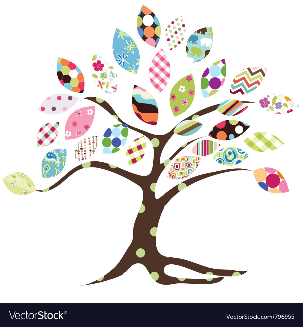 Tree pattern vector | Price: 1 Credit (USD $1)