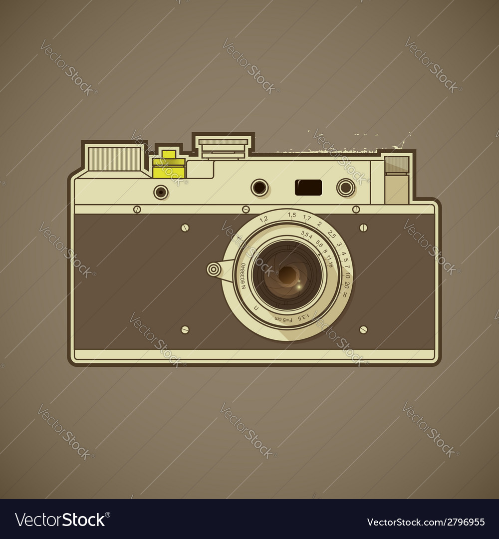 Vintage photo camera vector | Price: 1 Credit (USD $1)
