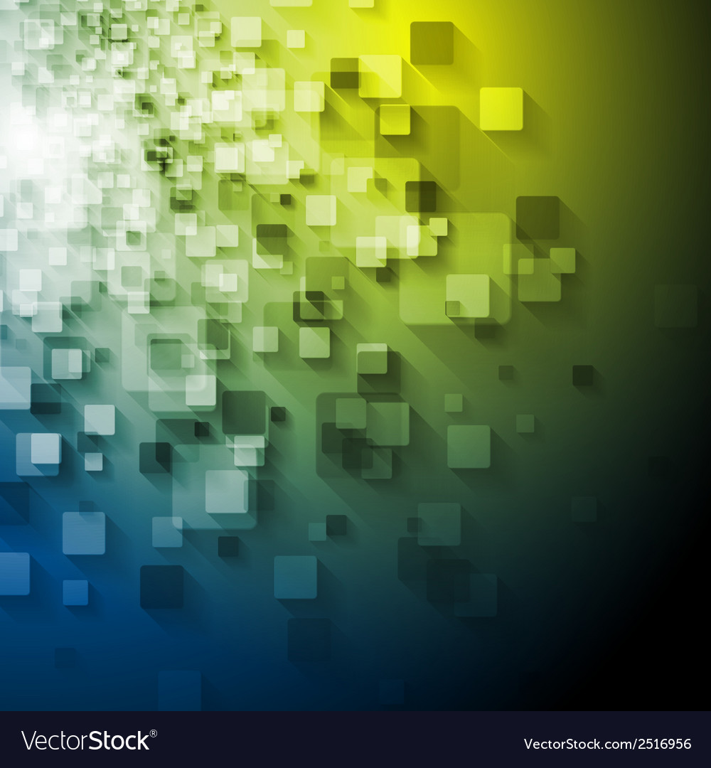 Abstract tech squares design vector | Price: 1 Credit (USD $1)