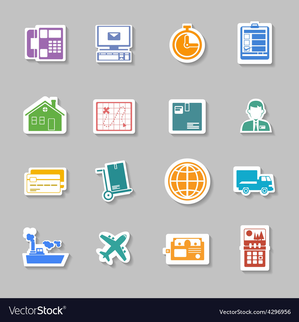 Color logistic service sticker vector | Price: 1 Credit (USD $1)