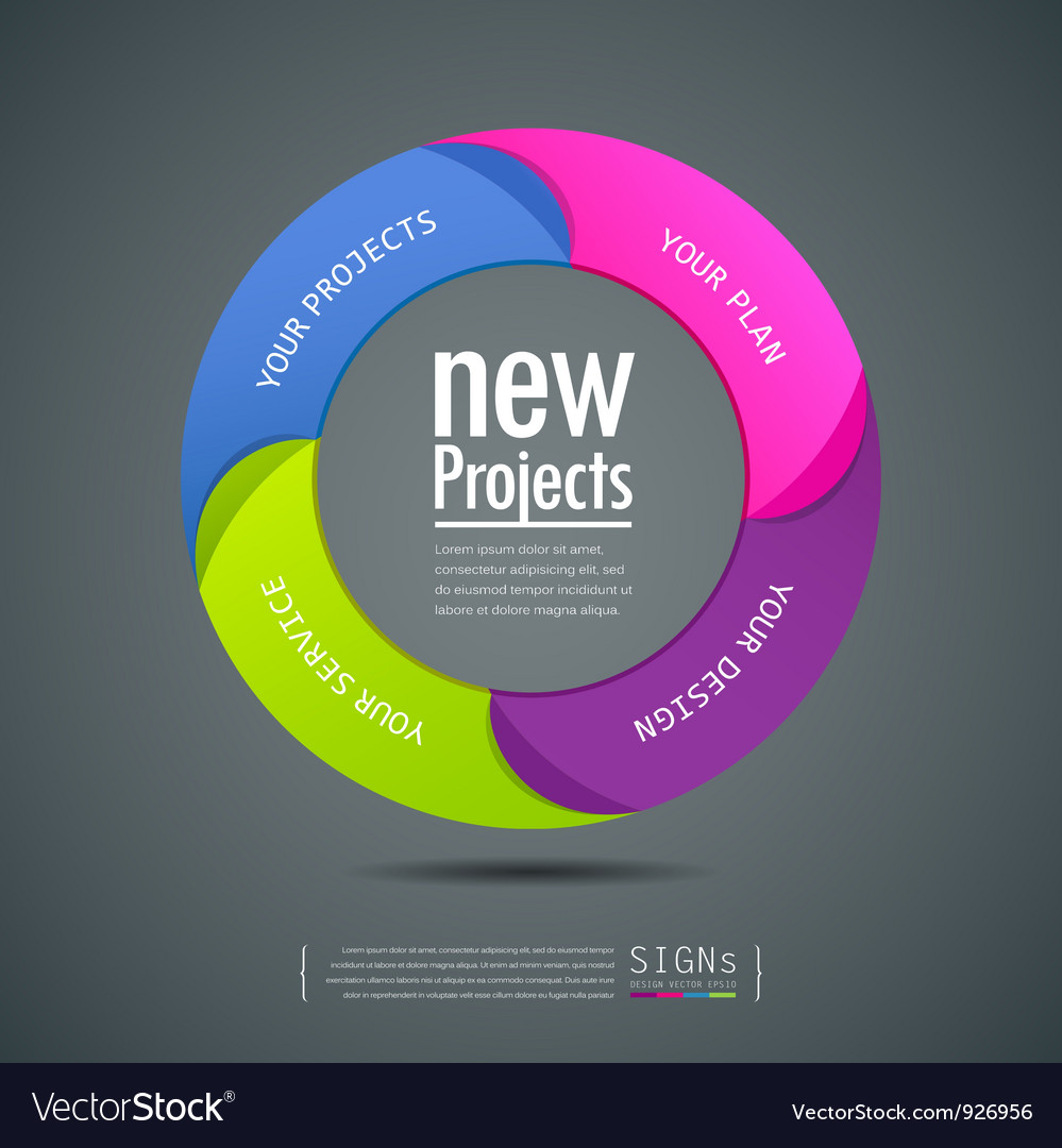 Design colorful projects circle vector | Price: 1 Credit (USD $1)
