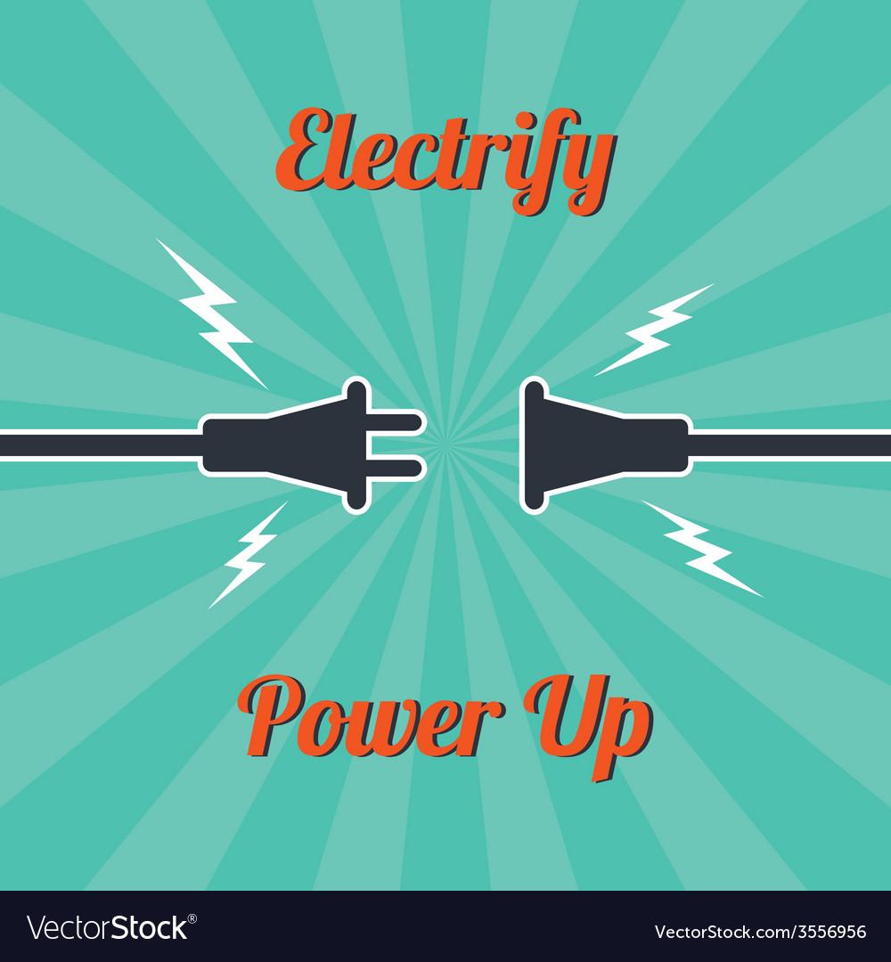Electricity vintage theme vector | Price: 1 Credit (USD $1)