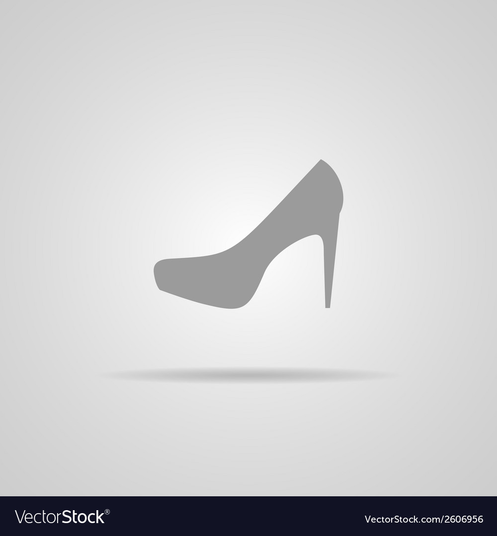 Elegant womens shoe - icon vector | Price: 1 Credit (USD $1)