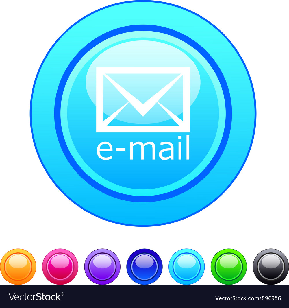 E-mail circle button vector | Price: 1 Credit (USD $1)