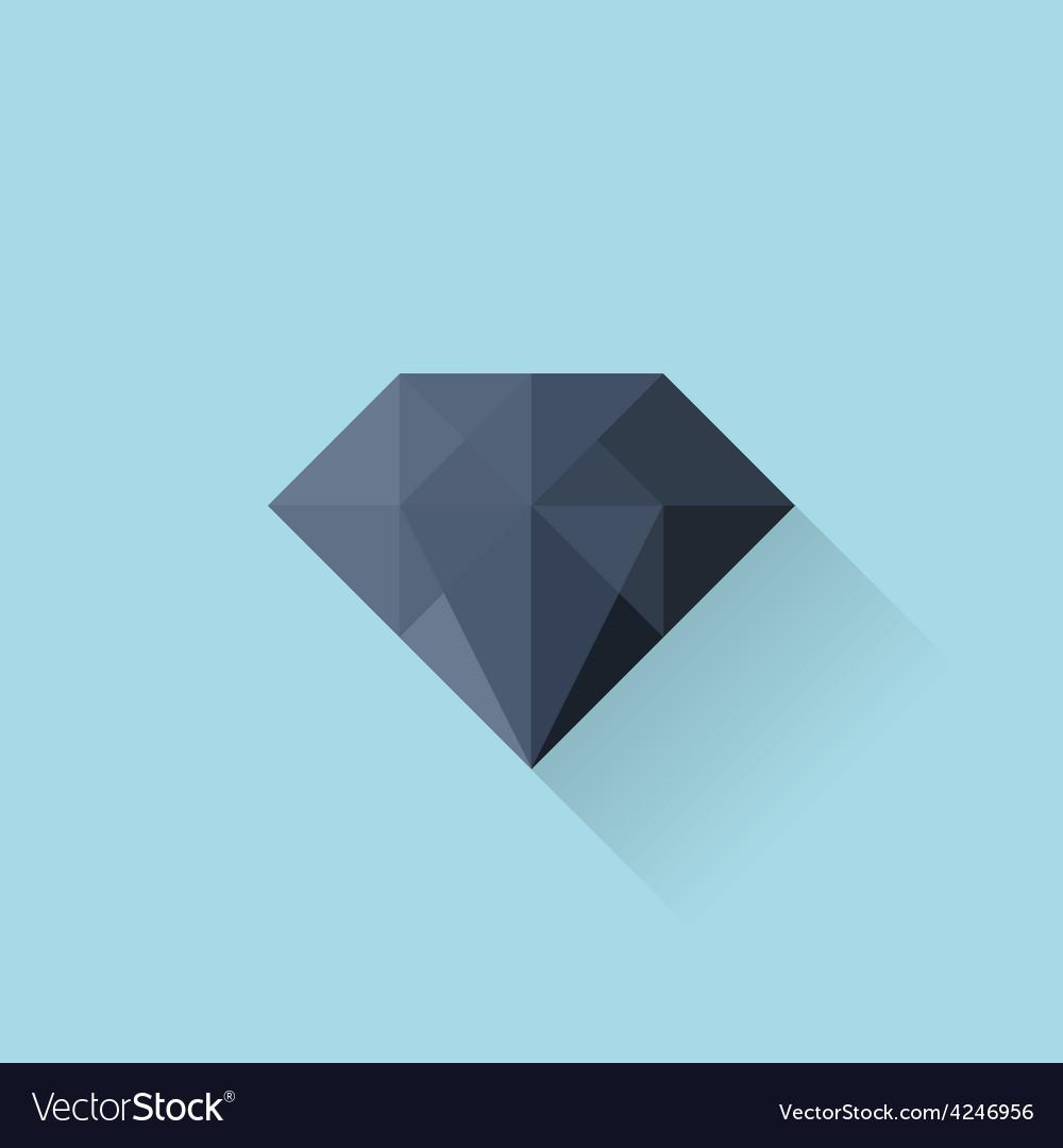 Flat web icon black diamond vector   Price: 1 Credit (USD $1)
