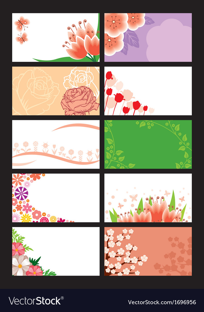 Flower greeting card vector | Price: 1 Credit (USD $1)