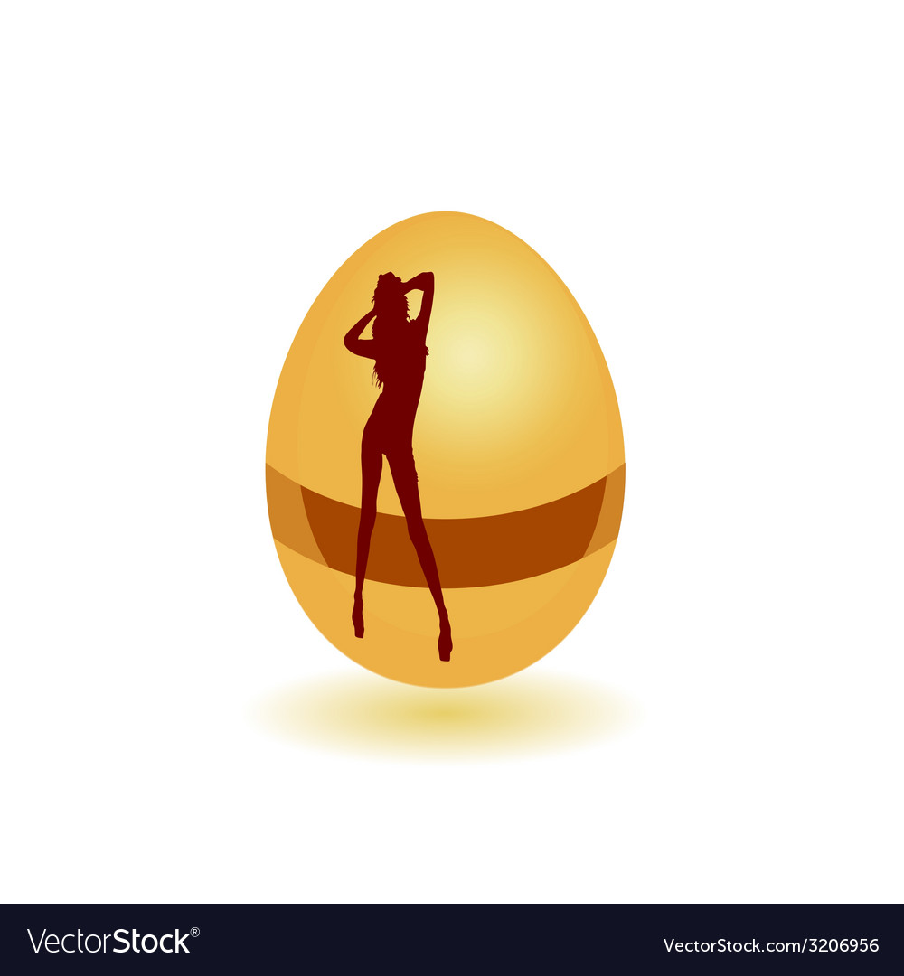 Girl on the egg vector | Price: 1 Credit (USD $1)