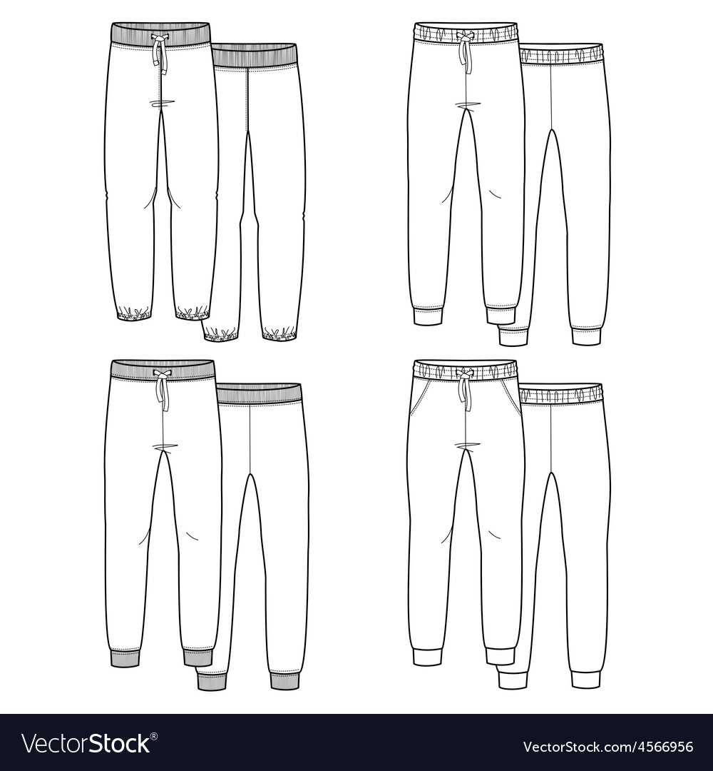 Girls trousers vector | Price: 1 Credit (USD $1)