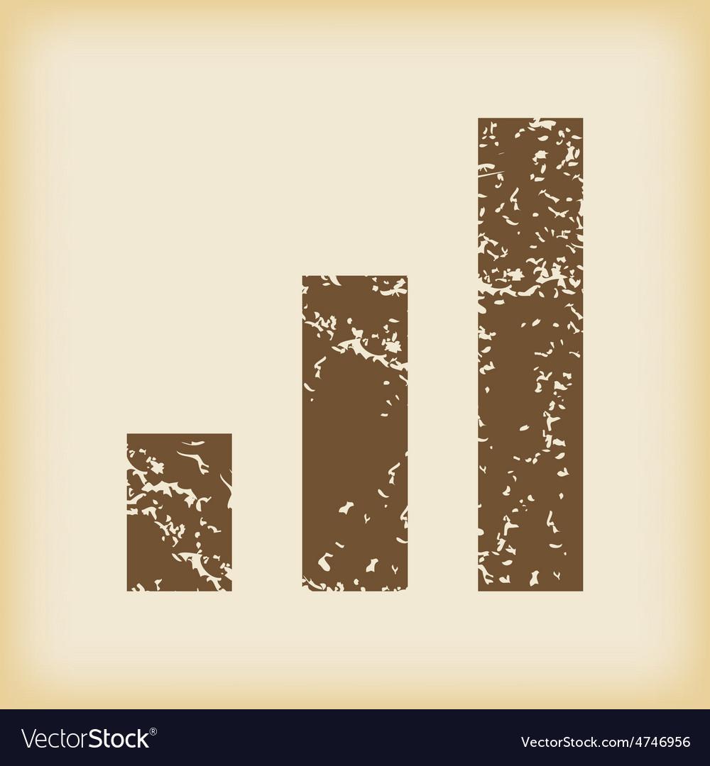 Grungy volume scale icon vector | Price: 1 Credit (USD $1)