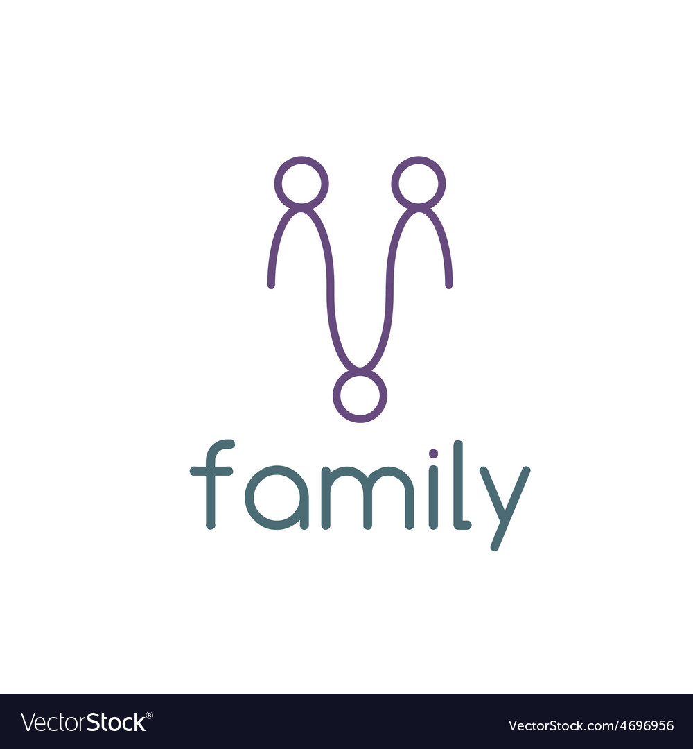 Happy family design template vector | Price: 1 Credit (USD $1)