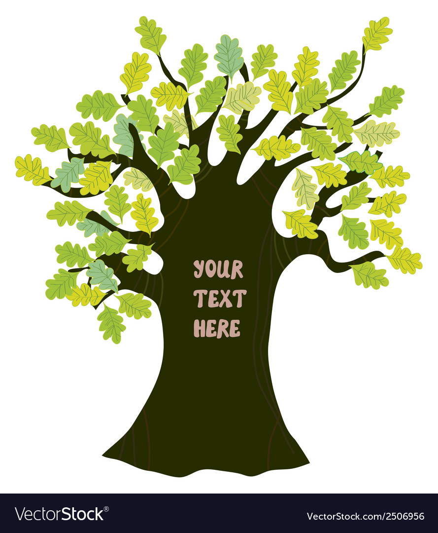 Oak tree - frame for text funny design vector | Price: 1 Credit (USD $1)