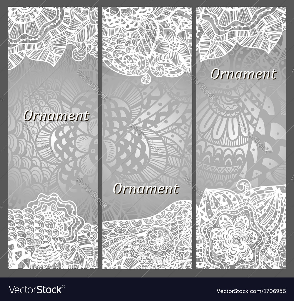 Set of cards with patterns vector | Price: 1 Credit (USD $1)