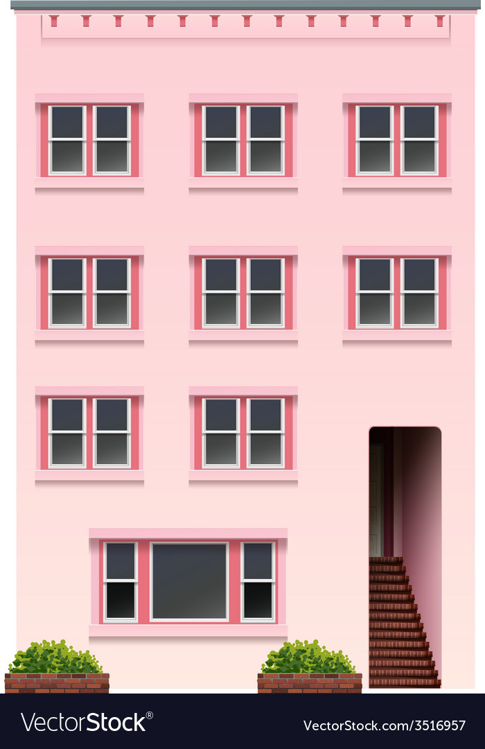 A tall pink building vector | Price: 3 Credit (USD $3)