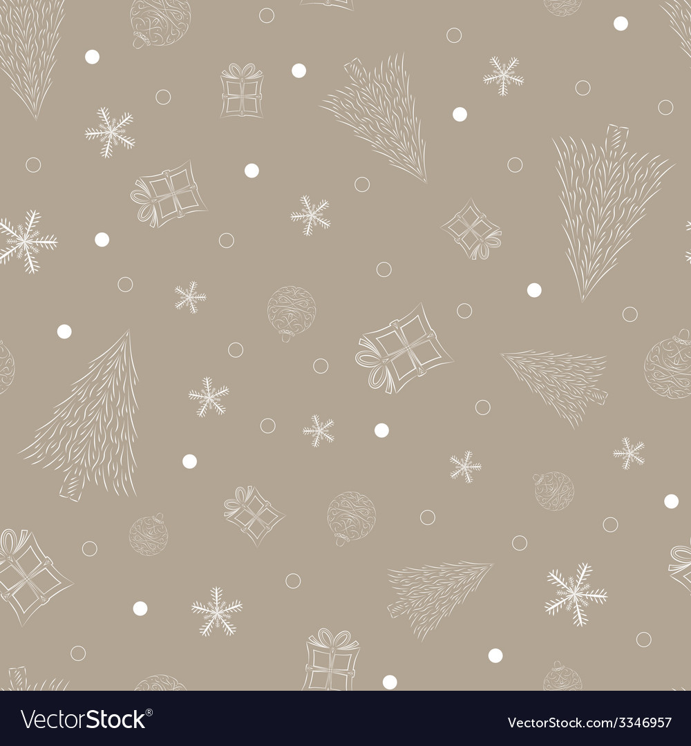 Christmas design seamless pattern vector | Price: 1 Credit (USD $1)