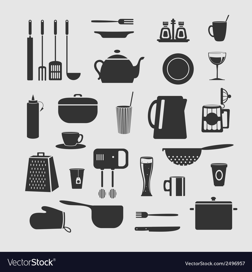 Cookware set of objects vector | Price: 1 Credit (USD $1)