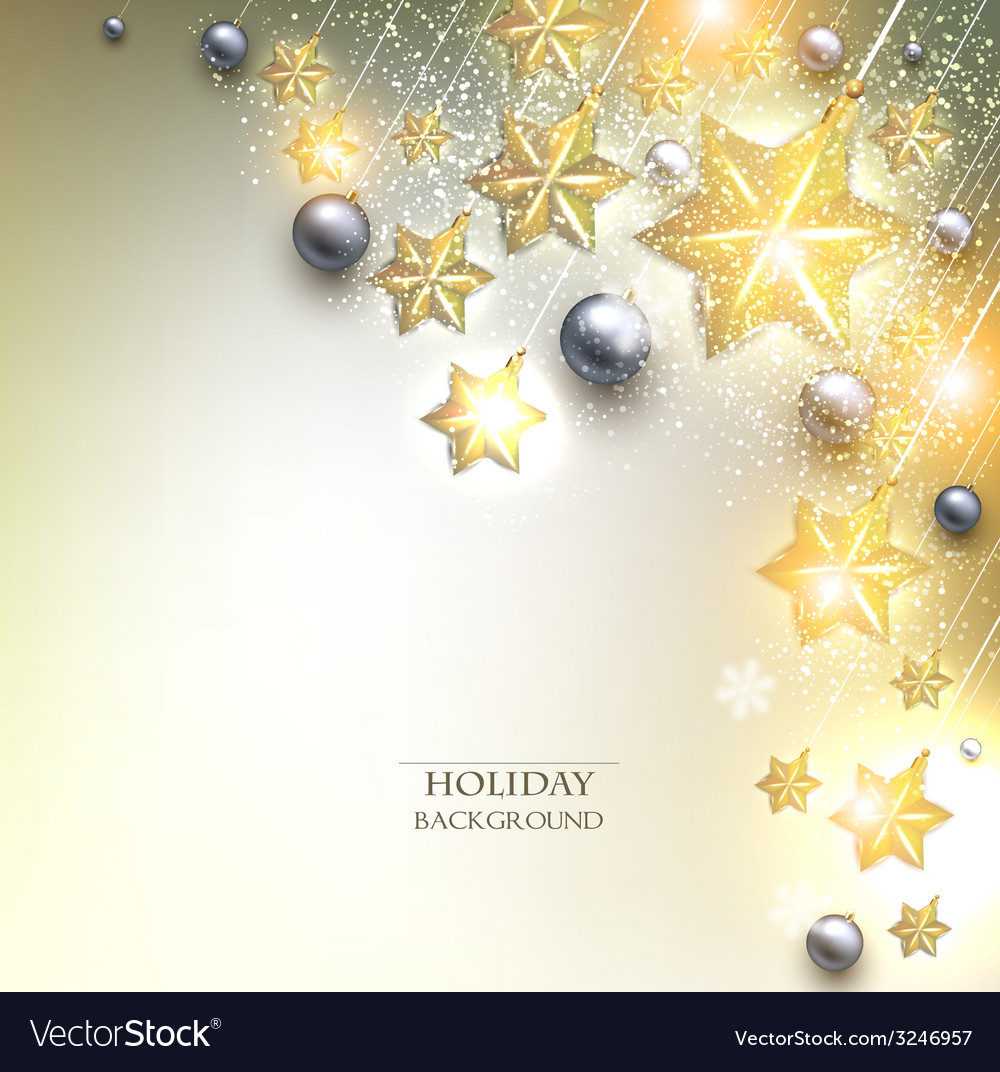 Elegant christmas background with stars garland vector | Price: 1 Credit (USD $1)