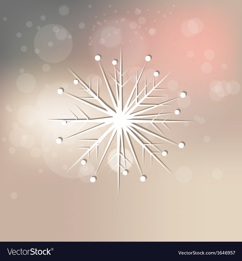 Elegant snowflake on abstract background vector | Price: 1 Credit (USD $1)