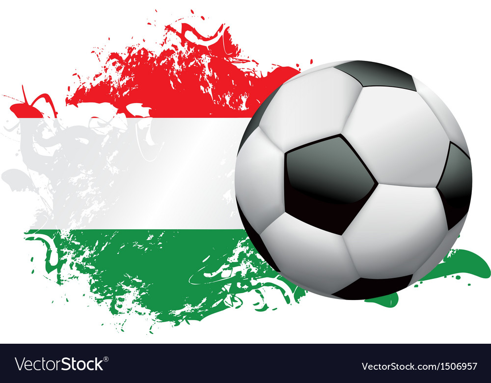 Hungary soccer grunge vector | Price: 1 Credit (USD $1)