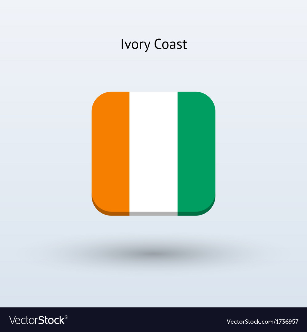 Ivory coast flag icon vector | Price: 1 Credit (USD $1)