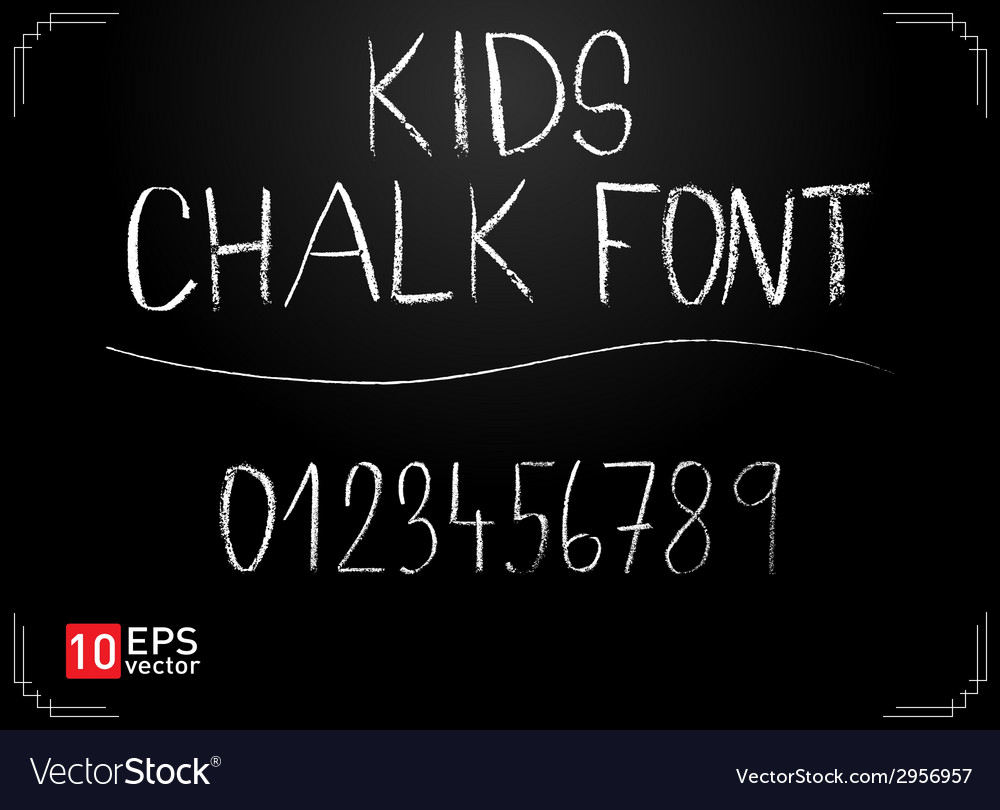 Kids chalk font vector | Price: 1 Credit (USD $1)