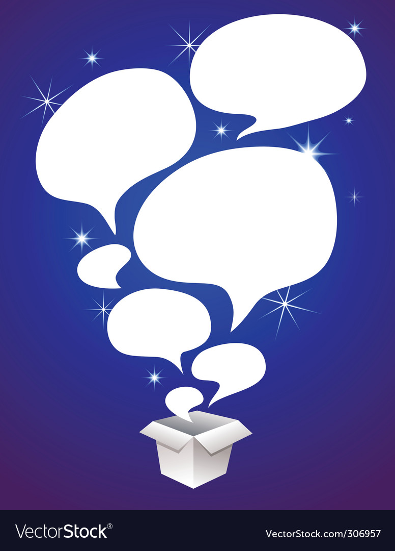 Speech bubbles in box vector | Price: 1 Credit (USD $1)