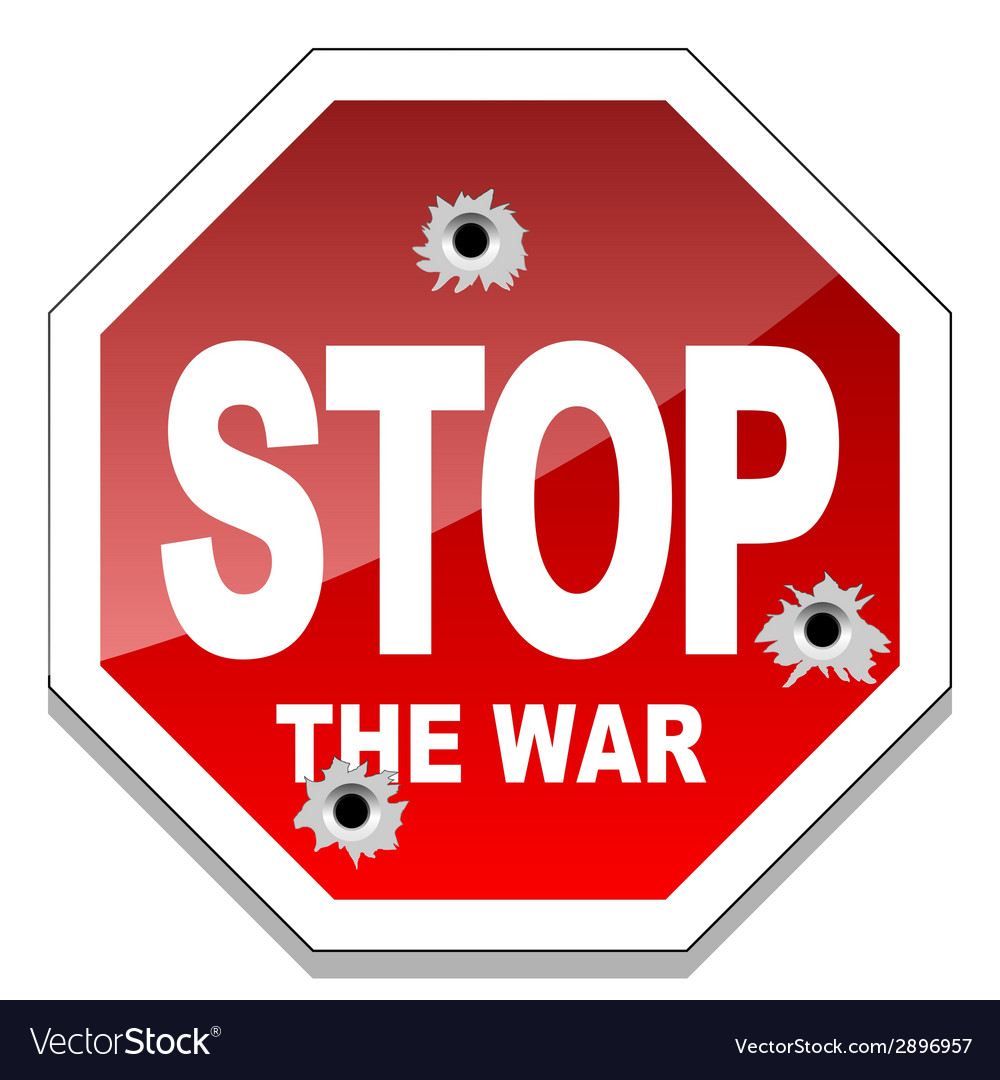 Stop the war vector | Price: 1 Credit (USD $1)