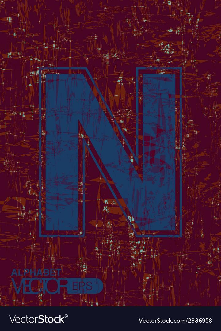 Alphabet n vector | Price: 1 Credit (USD $1)