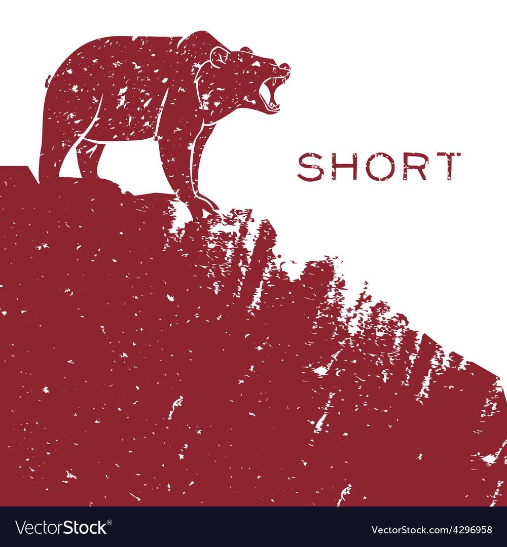 Bear short selling vector | Price: 1 Credit (USD $1)