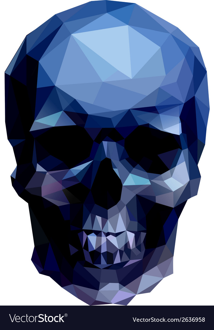 Blue skull vector | Price: 1 Credit (USD $1)