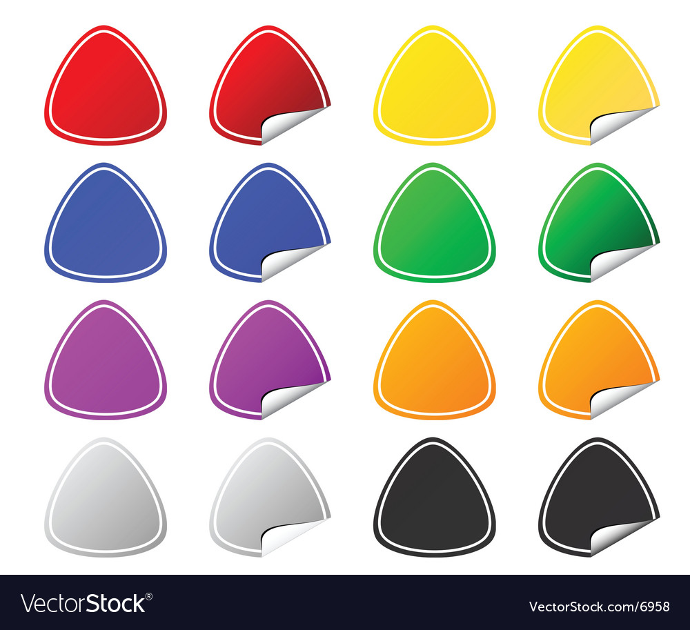 Colored stickers vector | Price: 1 Credit (USD $1)