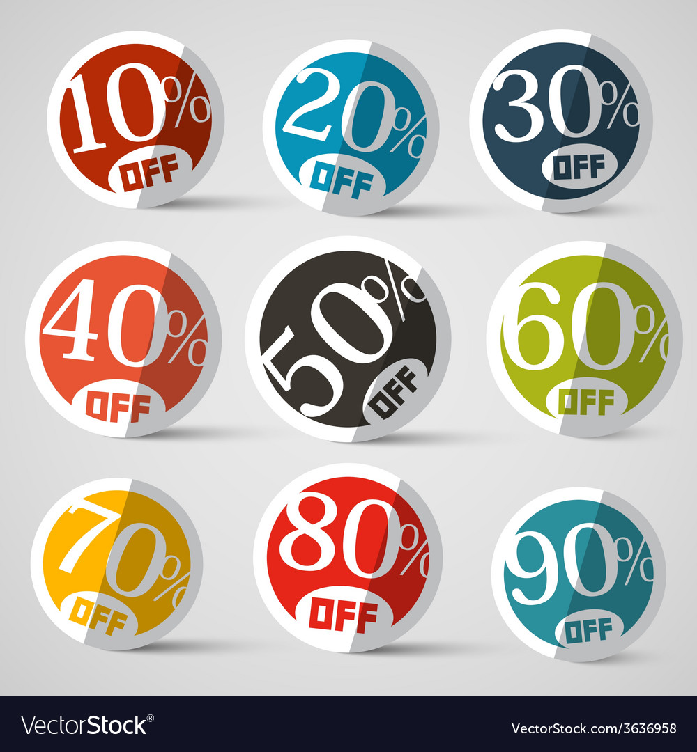 Discount circle labels vector | Price: 1 Credit (USD $1)