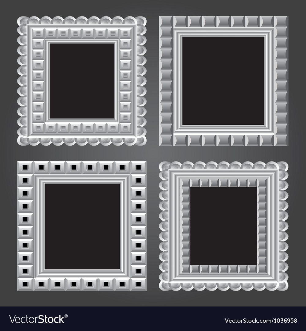 Frame in white color for your design vector | Price: 1 Credit (USD $1)