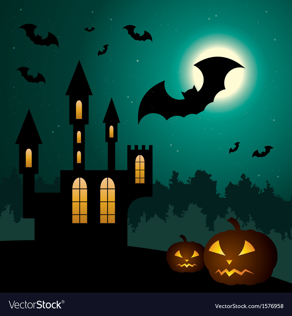 Halloween scenery vector | Price: 1 Credit (USD $1)