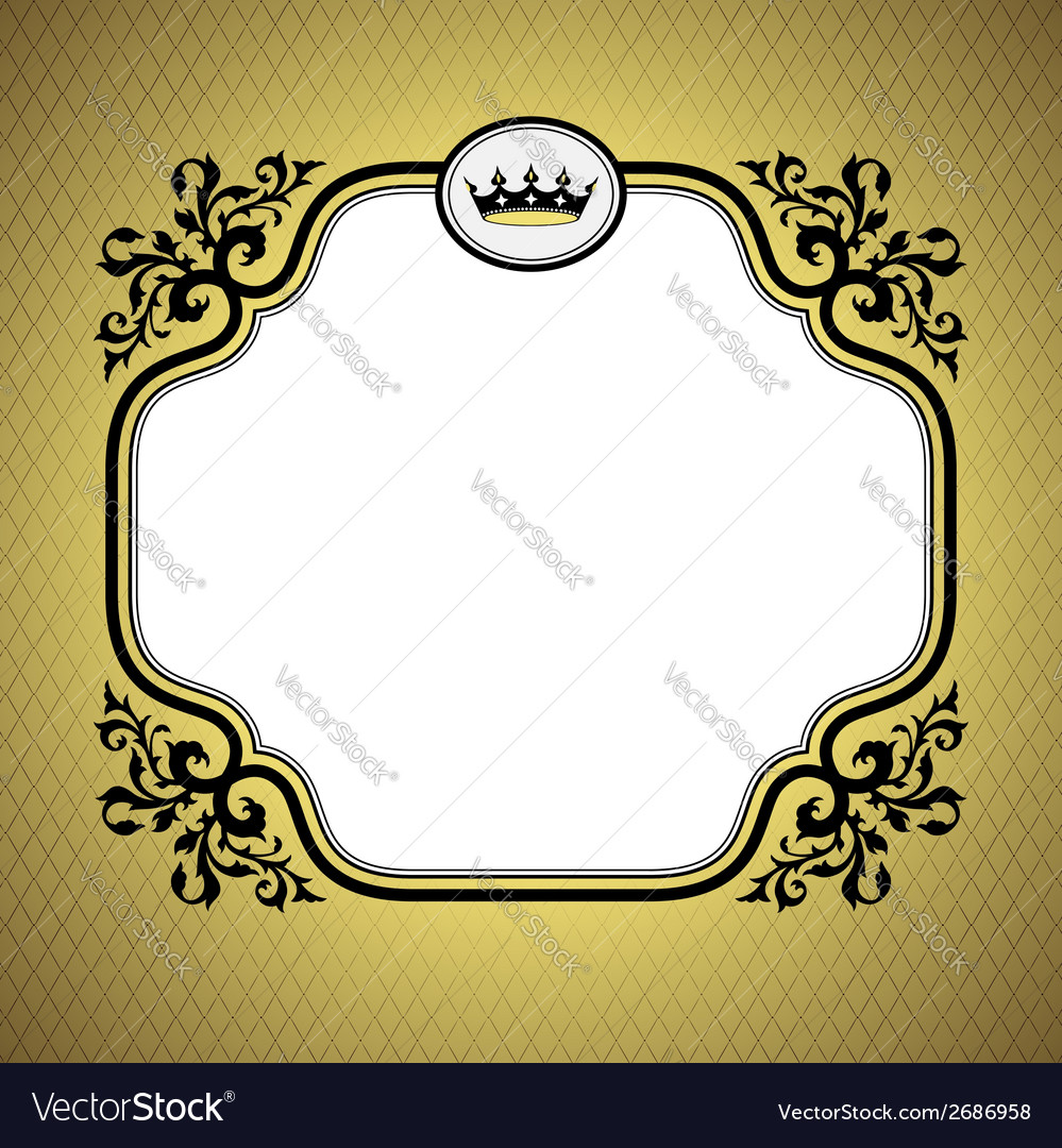 Queen frame gold vector | Price: 1 Credit (USD $1)
