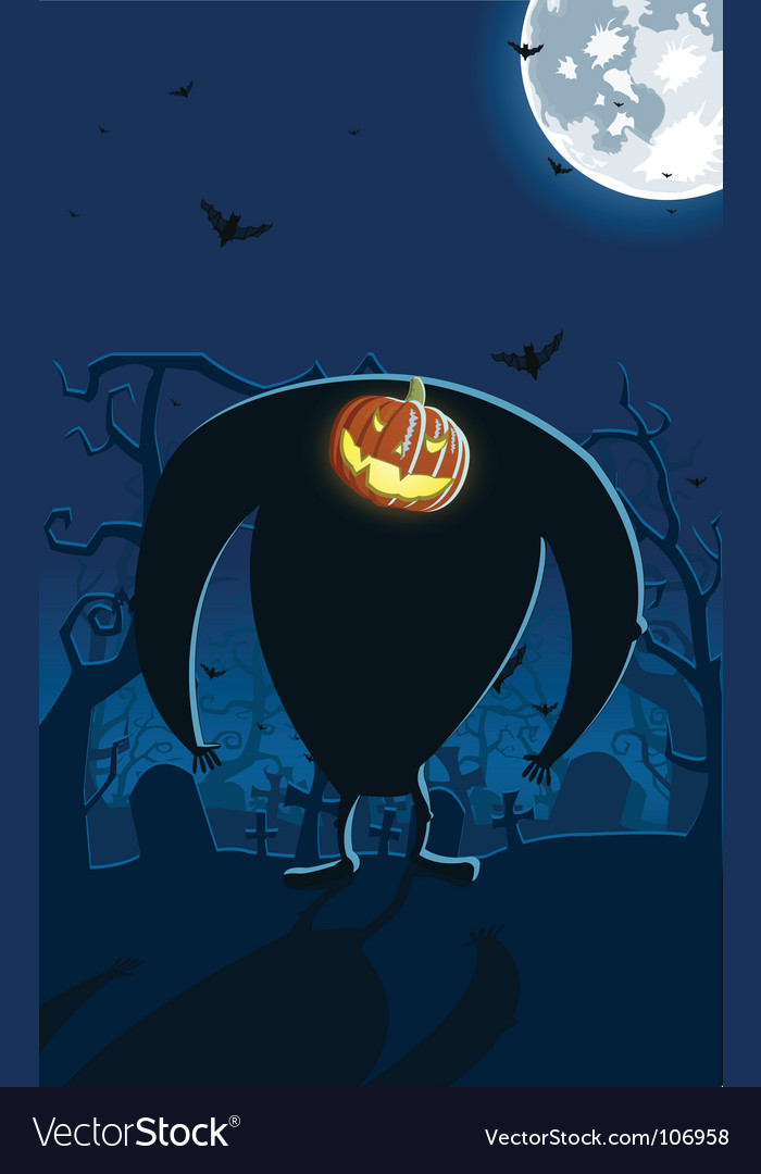 Scary jack-o-lantern vector | Price: 1 Credit (USD $1)