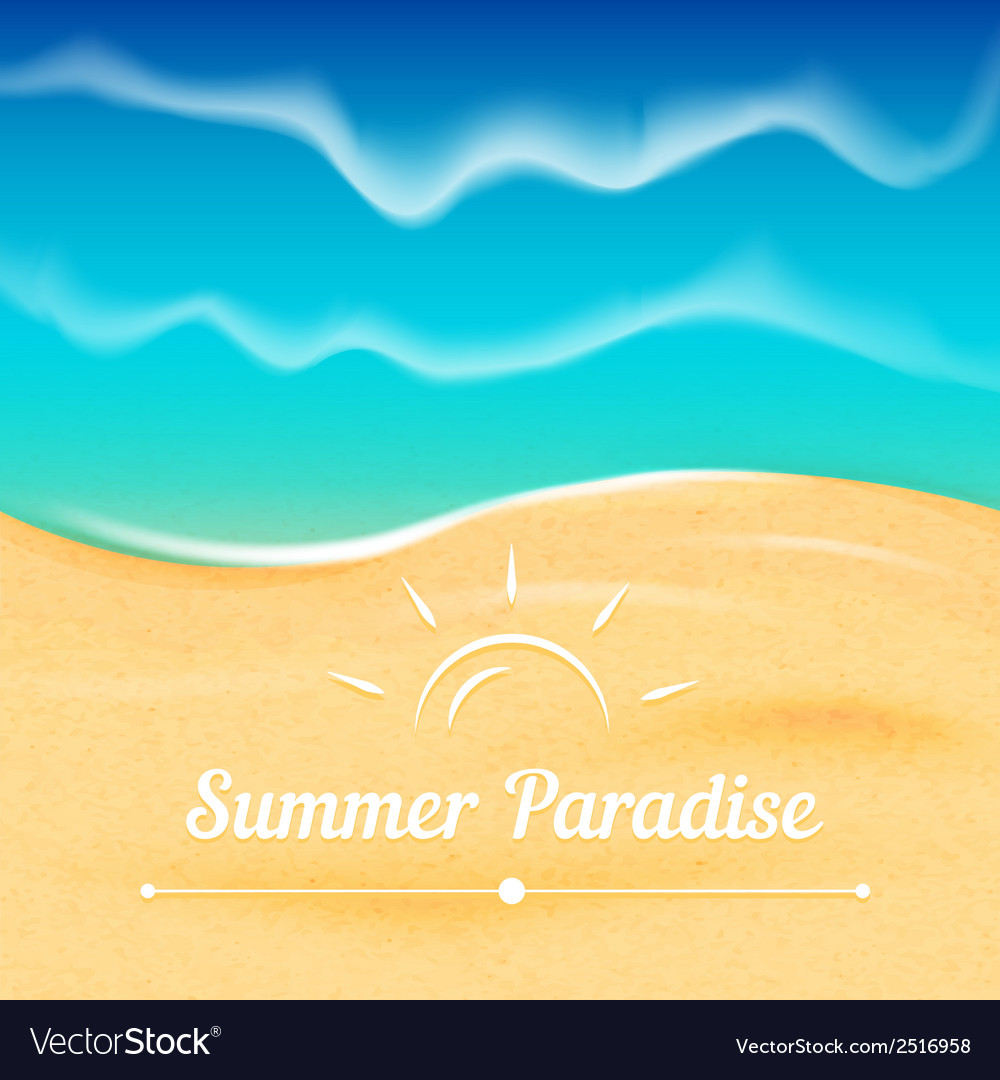 Summer background with sea view vector | Price: 1 Credit (USD $1)