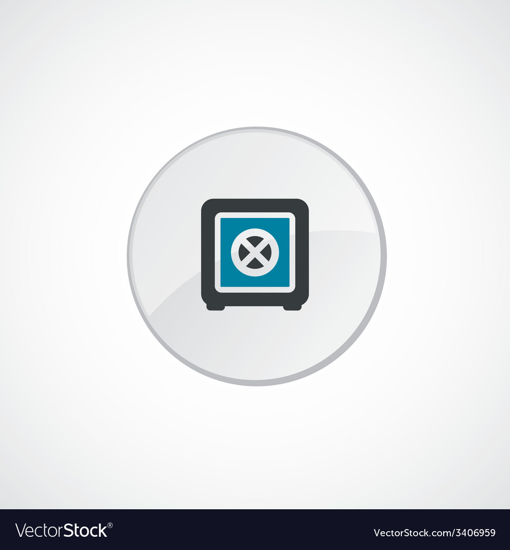 Bank safe icon 2 colored vector