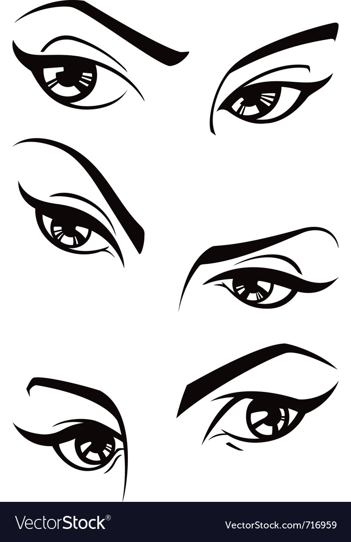 Female eyes vector | Price: 1 Credit (USD $1)