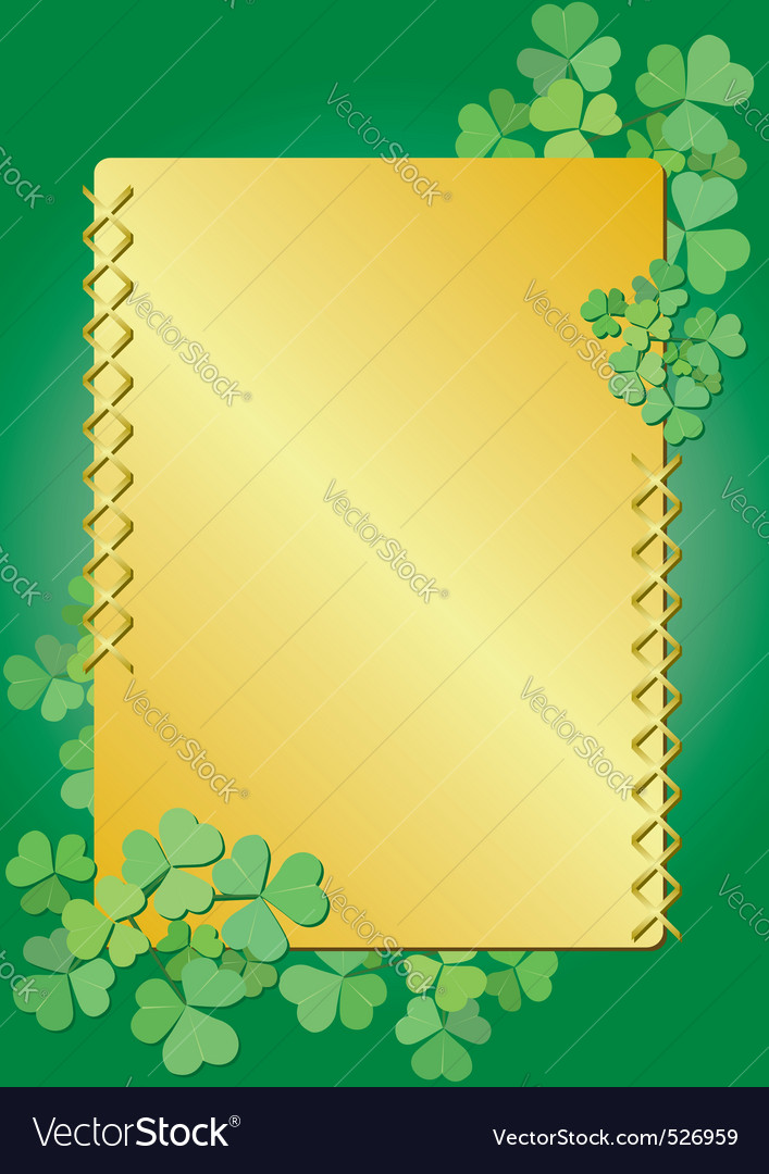 Golden clover frame vector | Price: 1 Credit (USD $1)