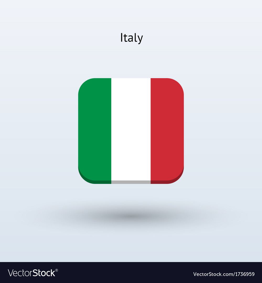 Italy flag icon vector | Price: 1 Credit (USD $1)