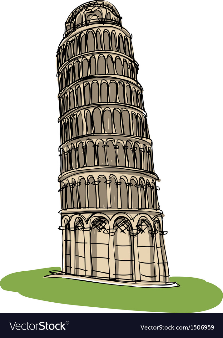 Pisa tower vector | Price: 3 Credit (USD $3)