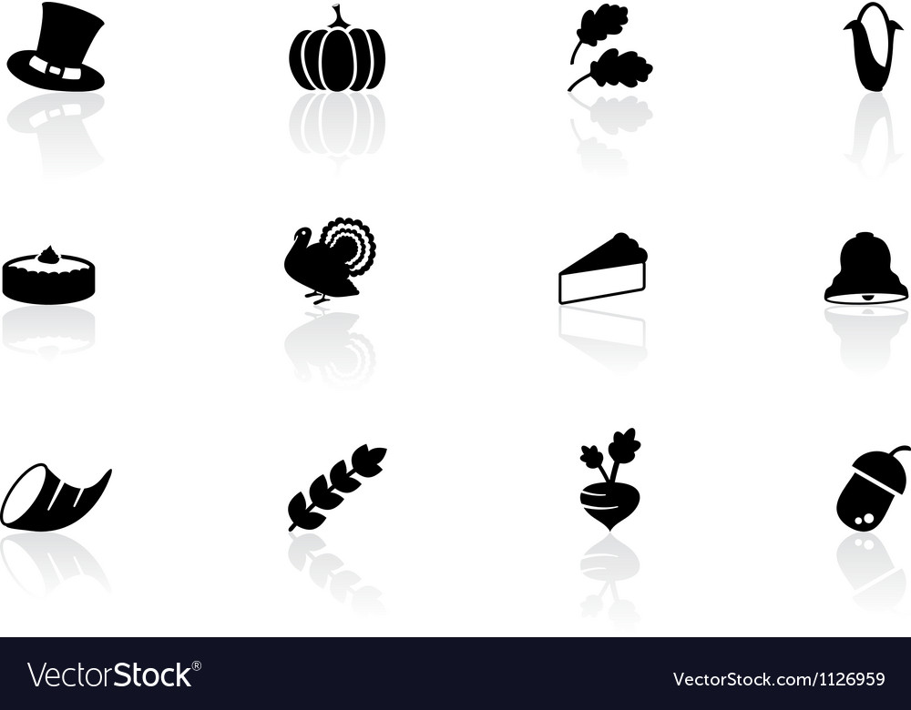 Thanksgiving icons vector | Price: 1 Credit (USD $1)