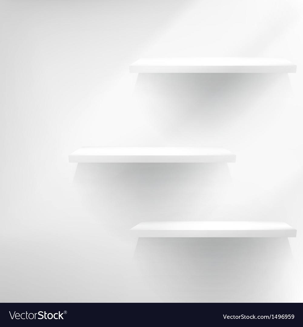 Three empty shelves vector | Price: 1 Credit (USD $1)