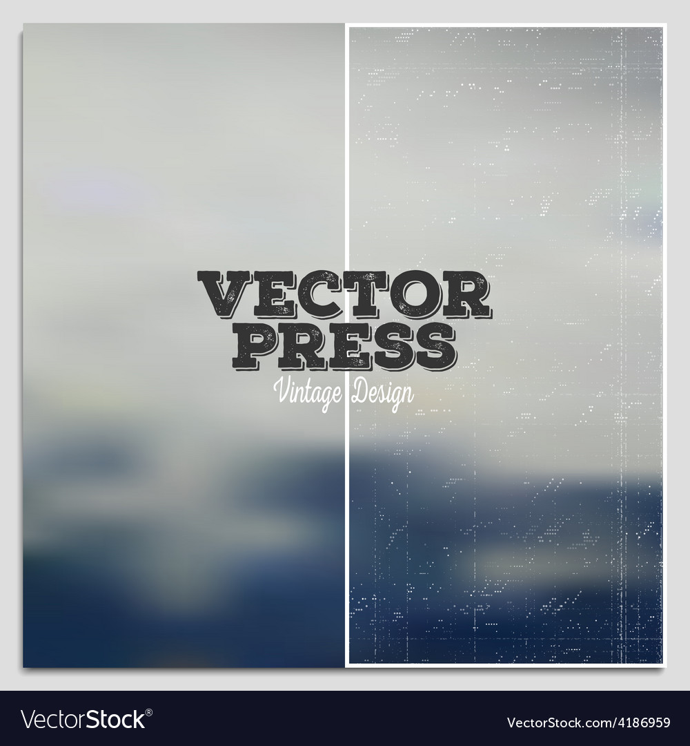 Vintage design press template summer time vector | Price: 1 Credit (USD $1)