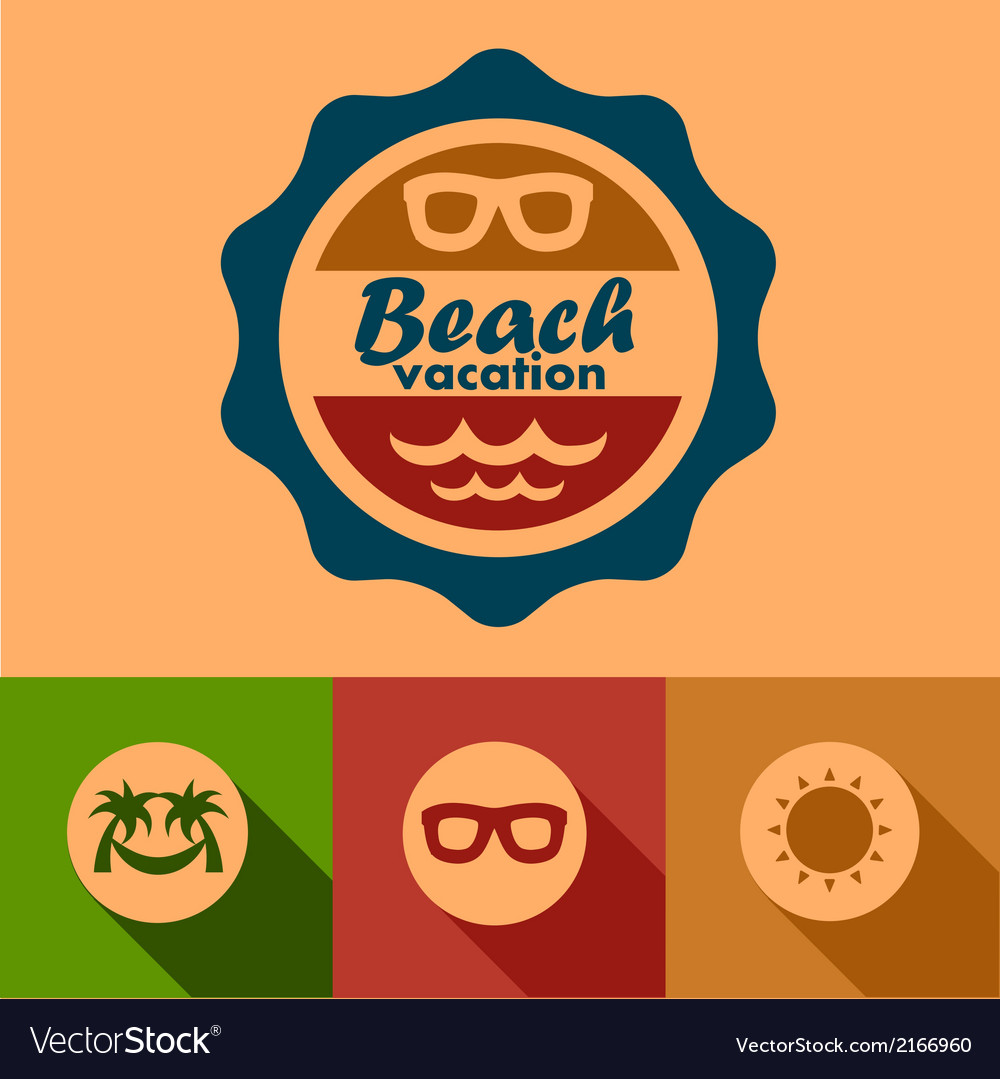 Beach vacation labels vector | Price: 1 Credit (USD $1)