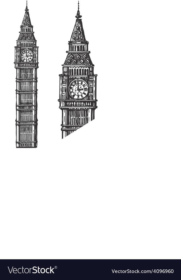 Big ben logo design template england or vector | Price: 3 Credit (USD $3)