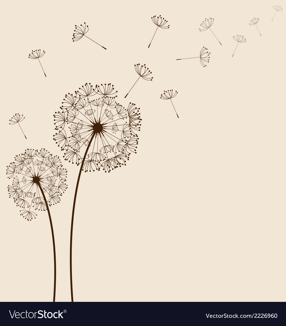 Dandelions background vector | Price: 1 Credit (USD $1)
