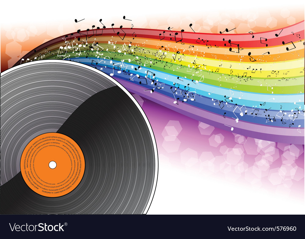 Music background with vinyl desk vector | Price: 1 Credit (USD $1)