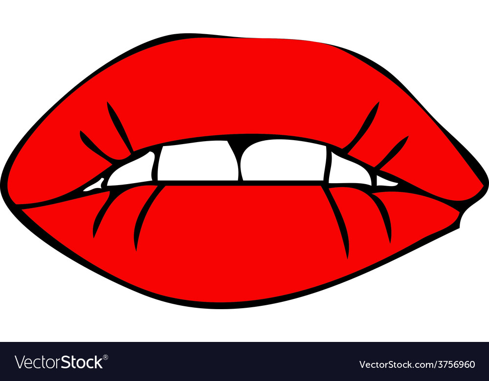 Sensual female mouth vector | Price: 1 Credit (USD $1)