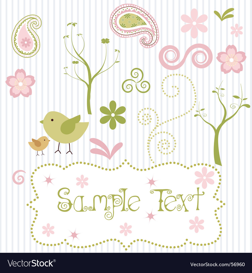 Spring elements vector | Price: 1 Credit (USD $1)
